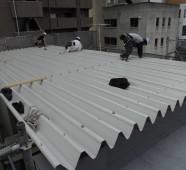 折板屋根(金属製重ね形折板)葺替え工事